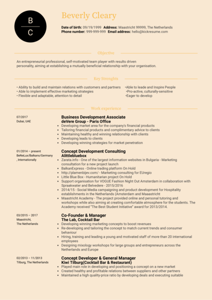 Marketing Manager Resume Sample