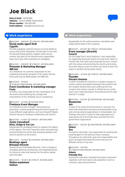 Content Creator CV Example