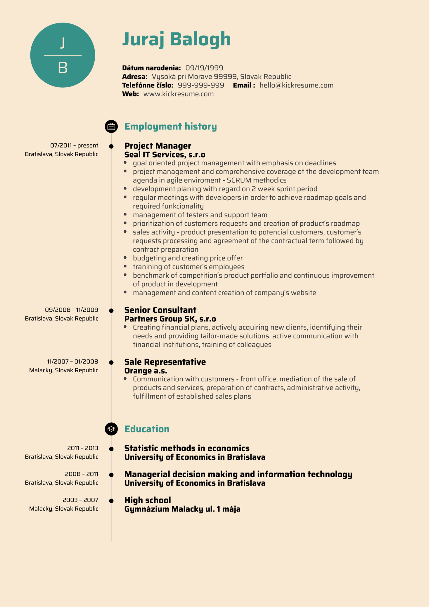 Product Manager Resume Example (Part 1)