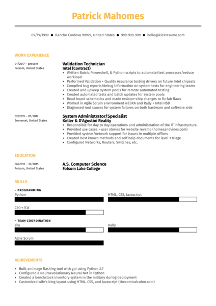 Systems Engineer Resume Sample