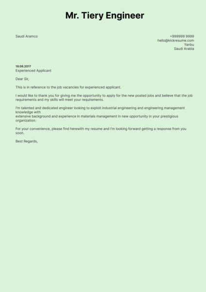 Engineering Cover Letter Samples from Real Professionals Who ...