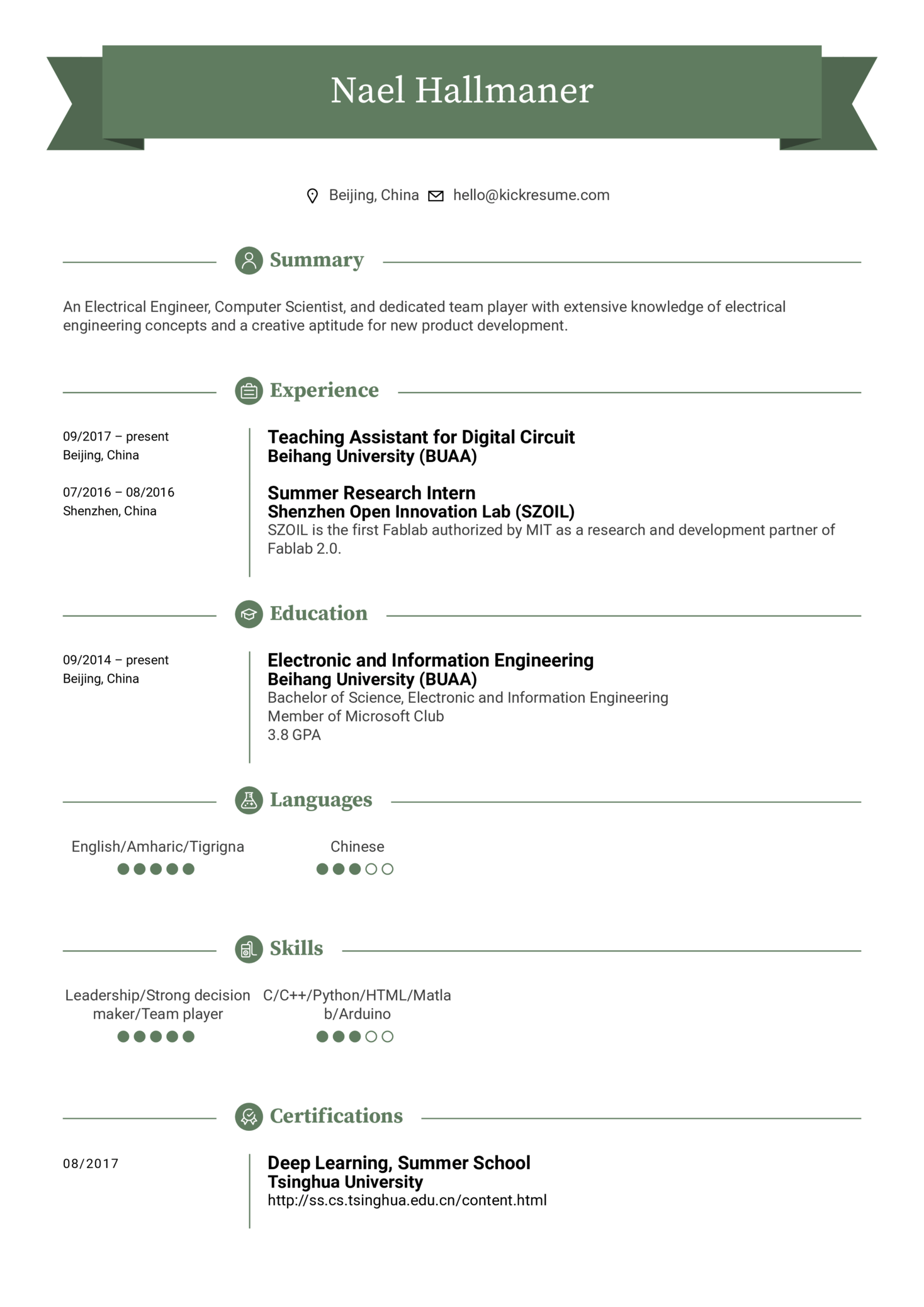 resume examples by real people  electrical engineer