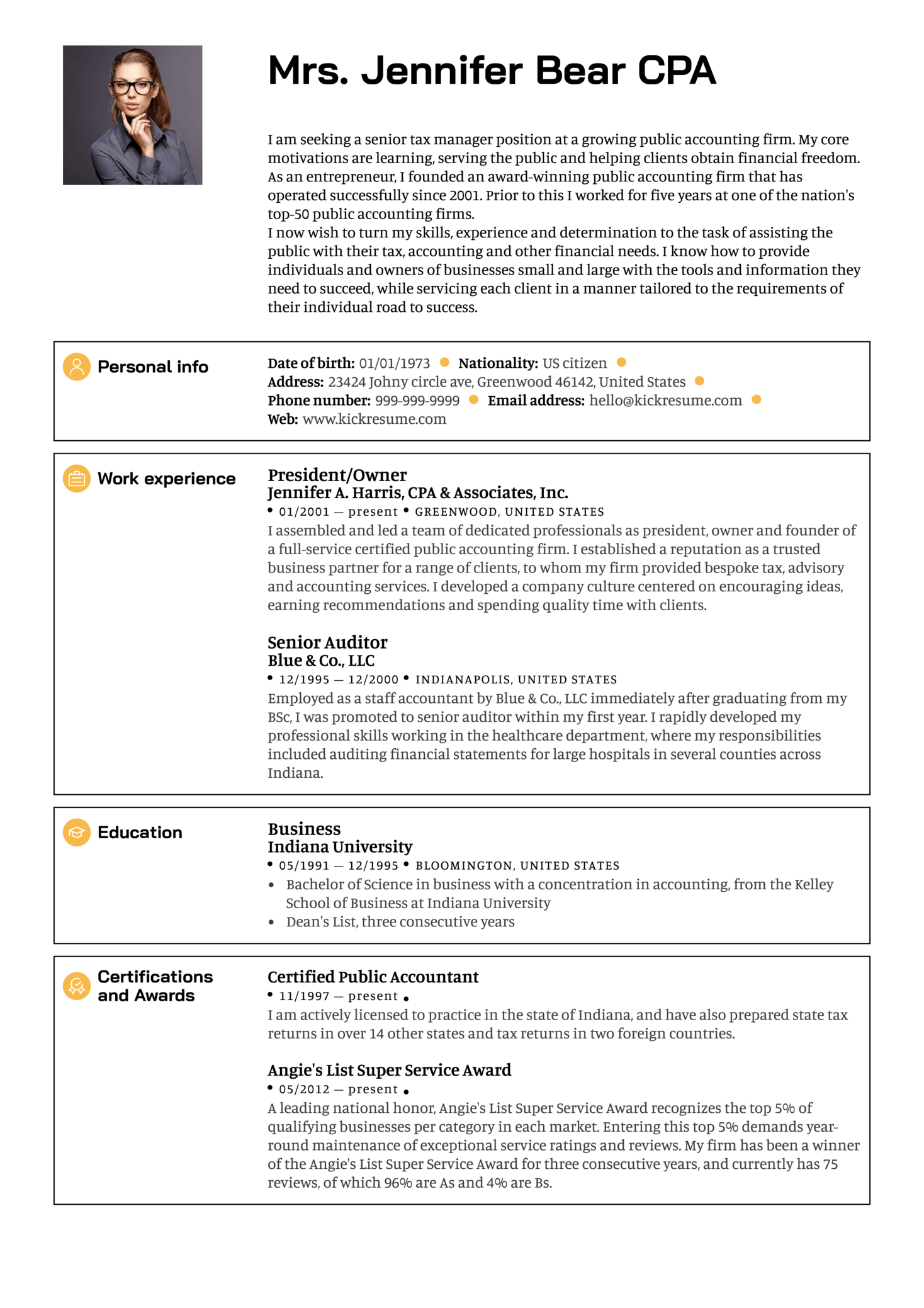 Senior manager resume sample | Resume samples | Career help center
