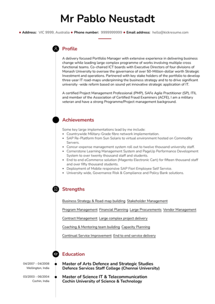 executive resume samples from real professionals who got hired