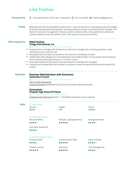 Resume Examples By Real People Retail Store Manager Resume