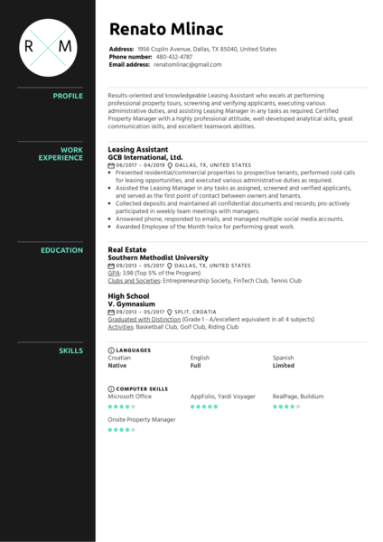 Real Estate Resume Samples From Real Professionals Who Got Hired