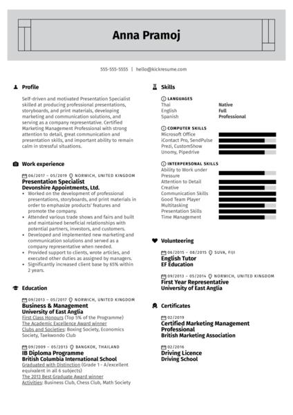 Marketing Assistant Resume Example Kickresume