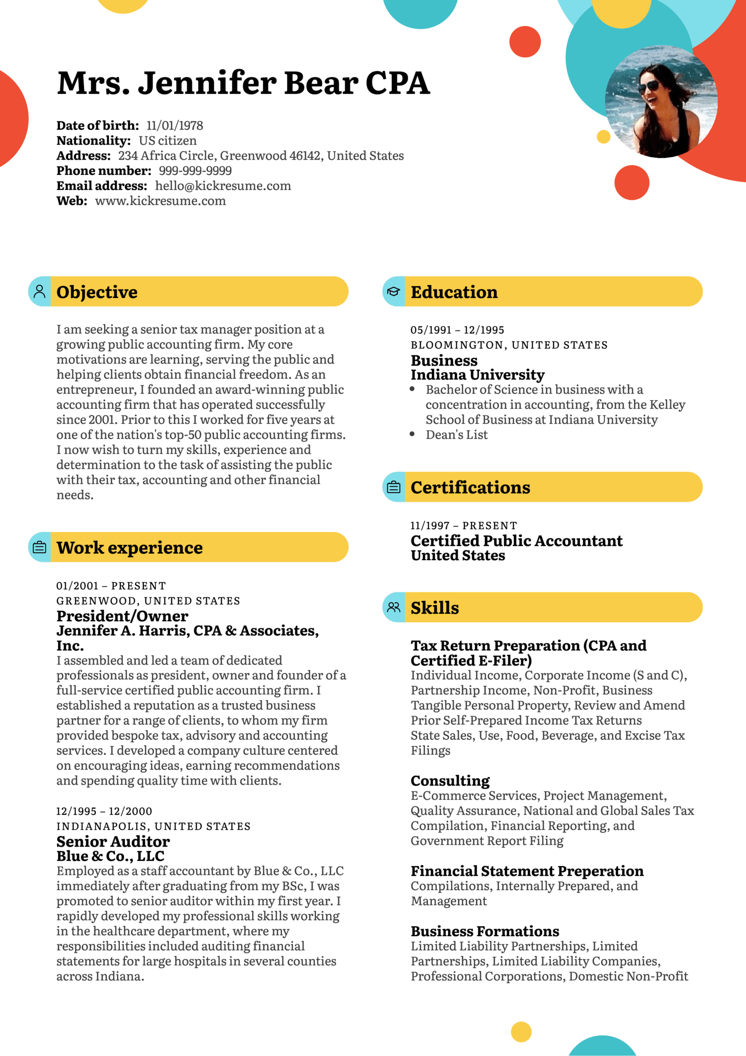 Resume Examples by Real People: Senior manager resume example ...