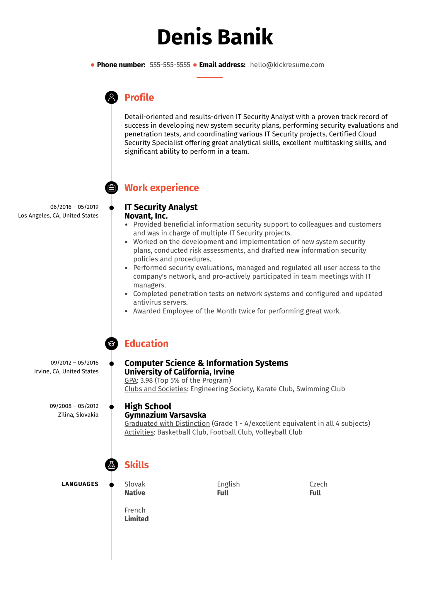 resume examples by real people  it security analyst resume