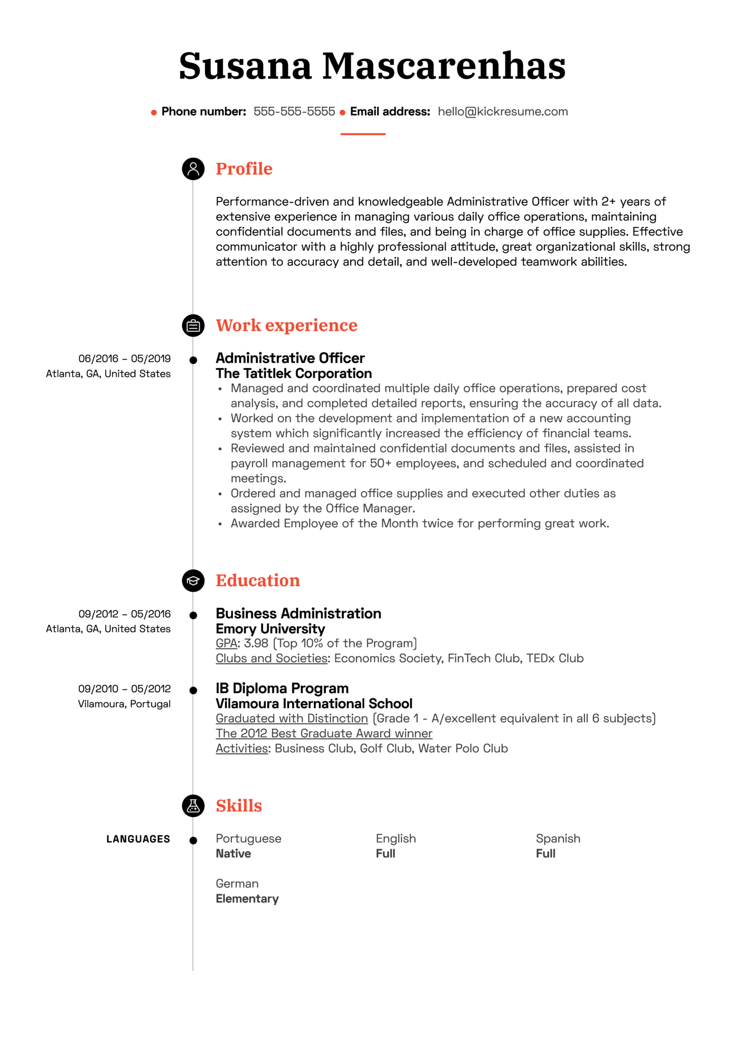 Resume Examples By Real People Administrative Officer