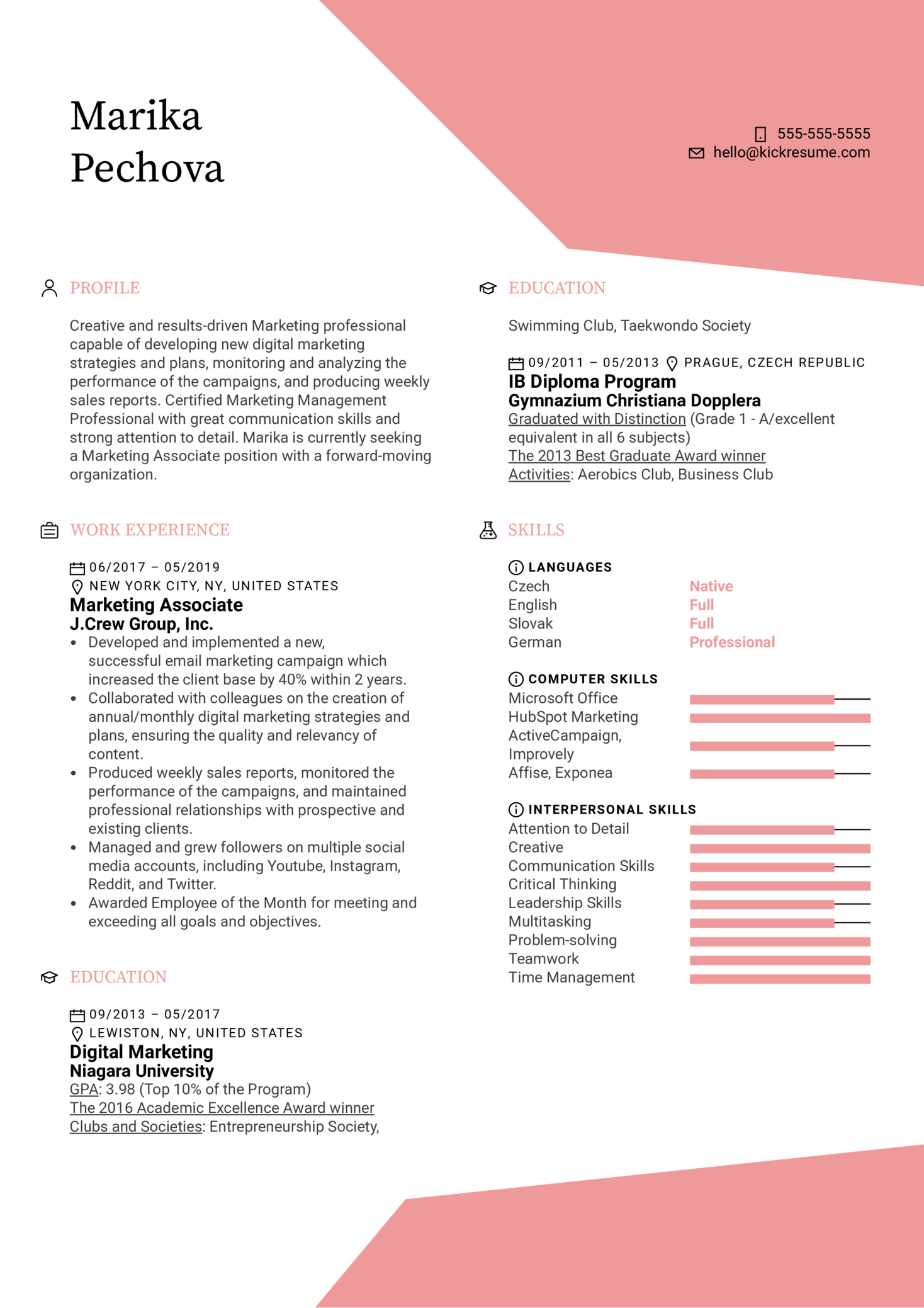 Resume Examples By Real People Marketing Associate Resume