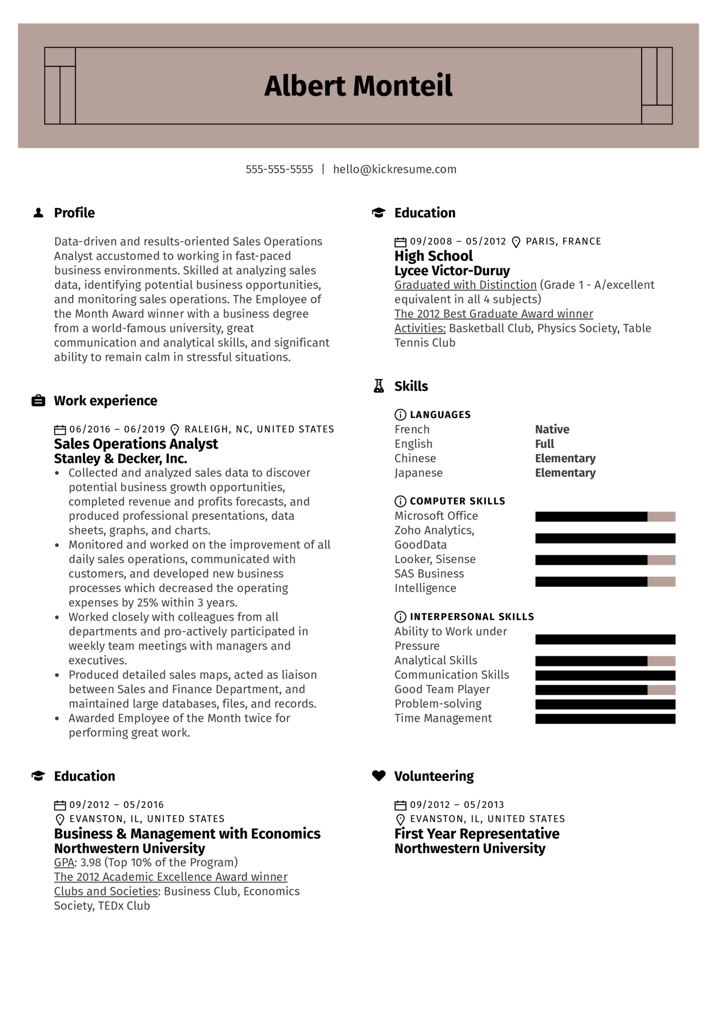 resume examples by real people  sales operations analyst resume sample