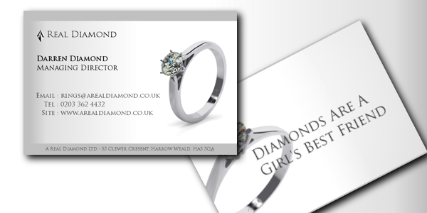 A Real Diamond Ltd – Business Cards