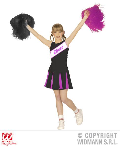 CHEERLEADER - BLACK/PINK - (dress) Childrens