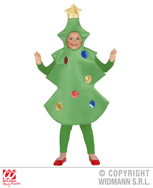 CHRISTMAS TREE CHILD  (110cm/116cm)  (one piece)