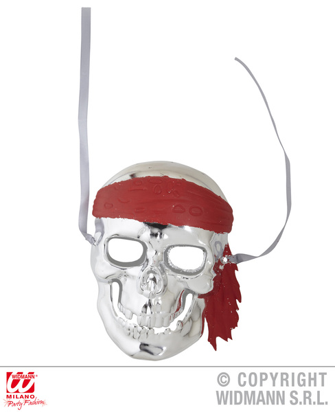 SILVER PIRATE SKULL MASK