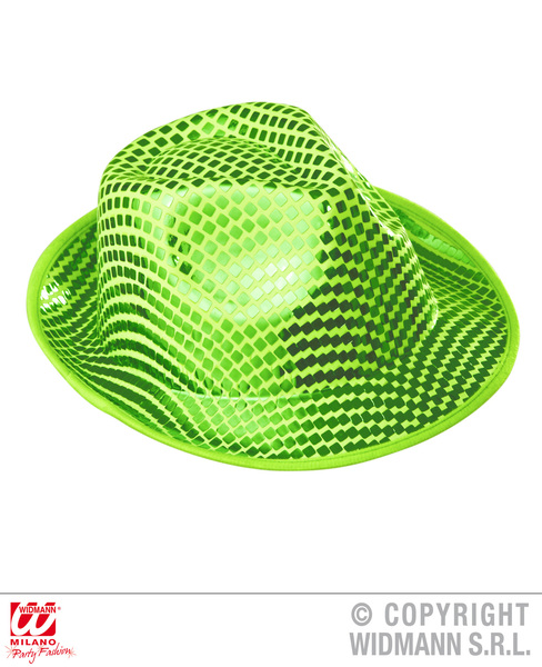 GREEN SQUARE SEQUINS FEDORA