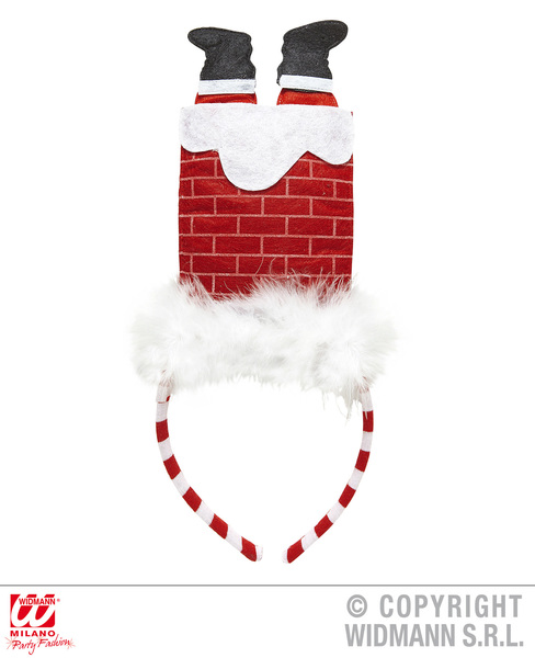 SANTA IN CHIMNEY HEADBAND