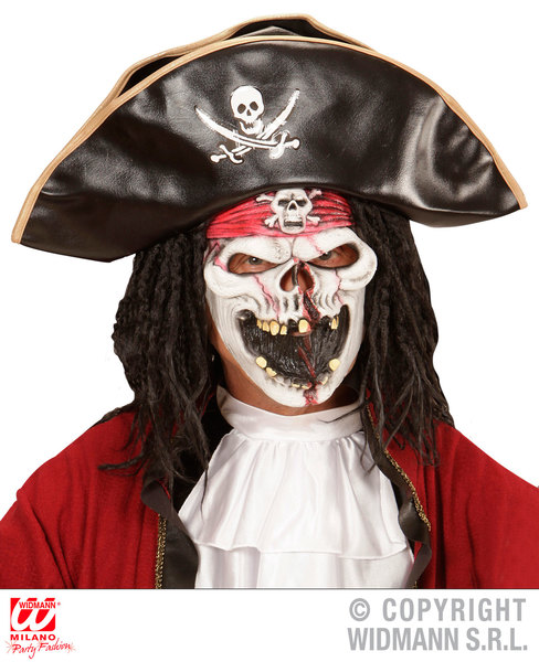 GHOST SHIP PIRATE HALF FACE MASK - CHILD
