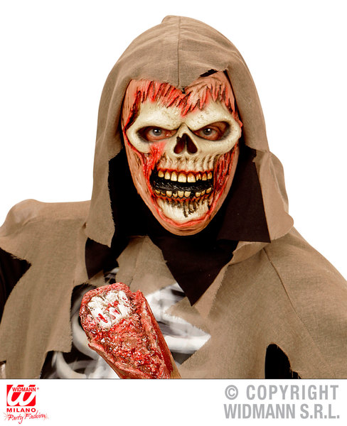 SOUL REAPER ZOMBIE HALF FACE MASK - CHILD