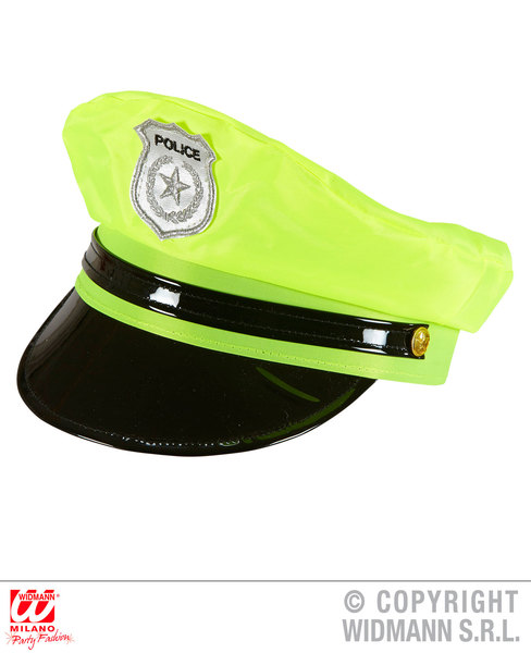 NEON YELLOW POLICE HAT