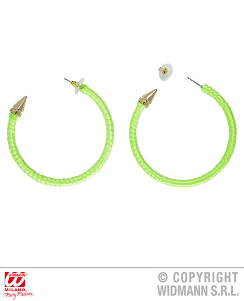 NEON GREEN EARRINGS
