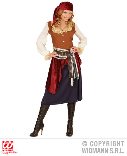 CARIBBEAN BUCCANEER (dress sash belt bandana)