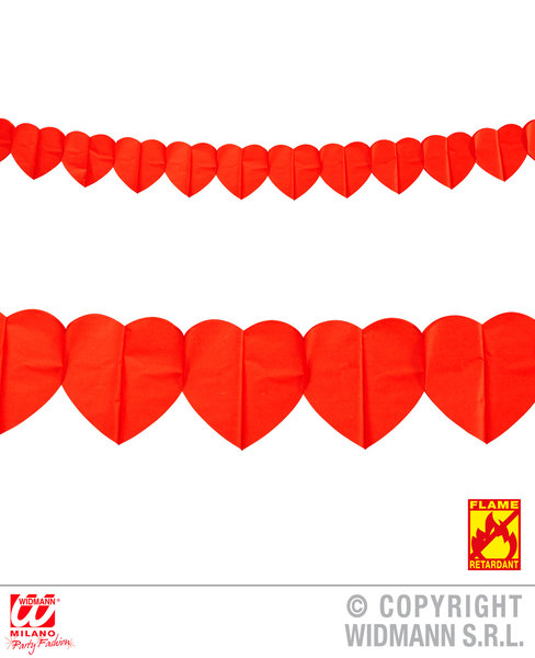 HEART GARLAND 3 m - flame retardant