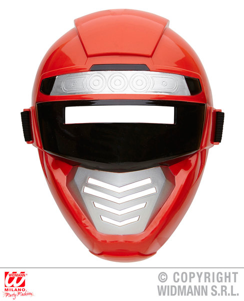 RED POWER ROBOT MASK child size