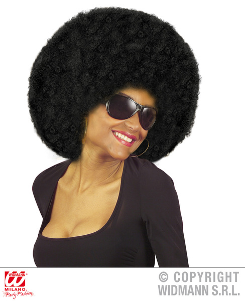 EXTRA CURLY JIMMY WIG - BLACK