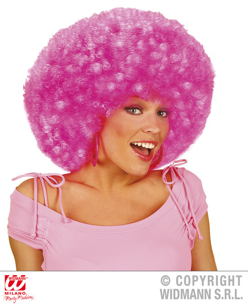 EXTRA CURLY JIMMY WIG - NEON PINK