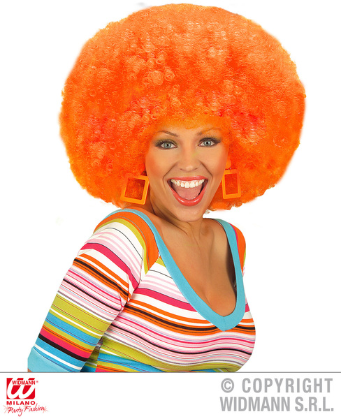 EXTRA CURLY JIMMY WIG - ORANGE