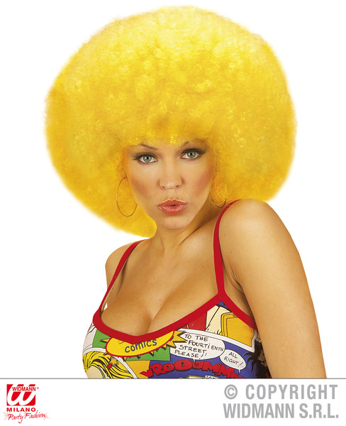 EXTRA CURLY JIMMY WIG - YELLOW