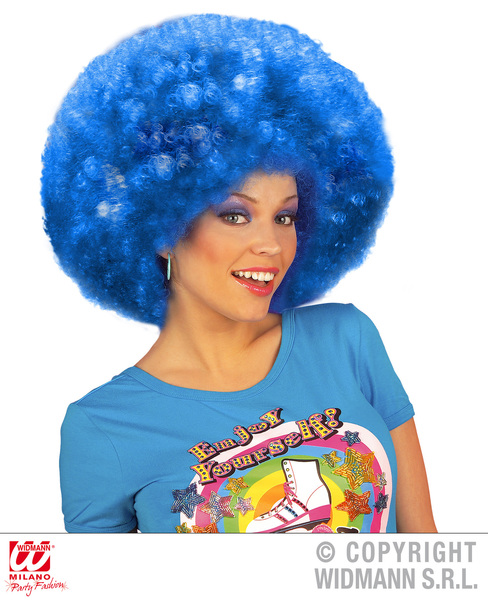 EXTRA CURLY JIMMY WIG - BLUE