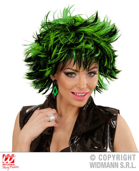 STEAMY WIG - BLACK-GREEN