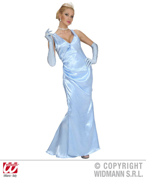 Ladies Satin Celebrity Costume for Hollywood Prom Dress Fancy Dress ... 17299389f