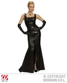 STRETCH COCKTAIL DRESS BLACK (dress gloves)