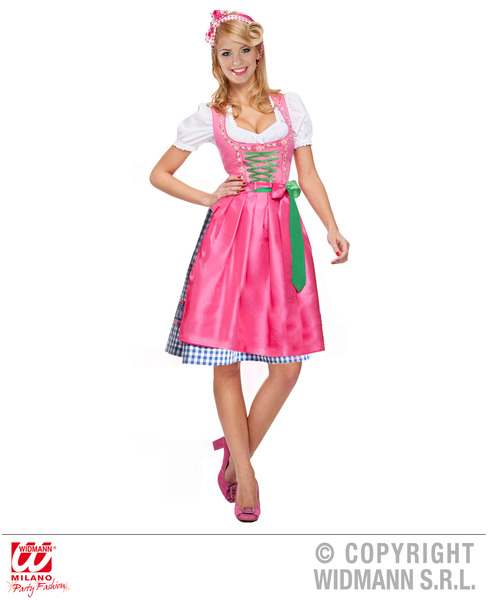 DIRNDL BAVARIAN - PURPLE / PINK (dress with apron)
