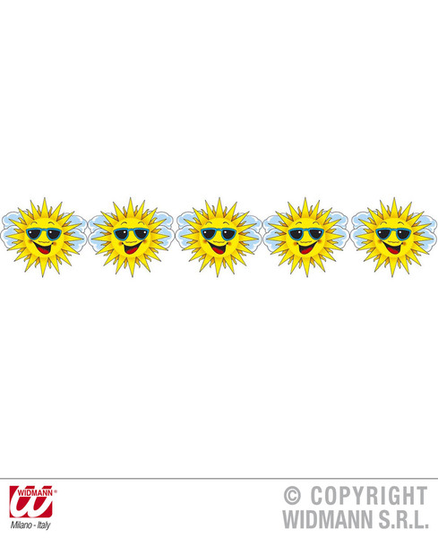 SUN SMILEY GARLAND 3m