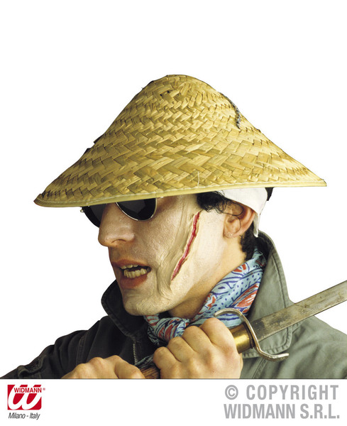 STRAW VIETKONG HAT - NATURAL