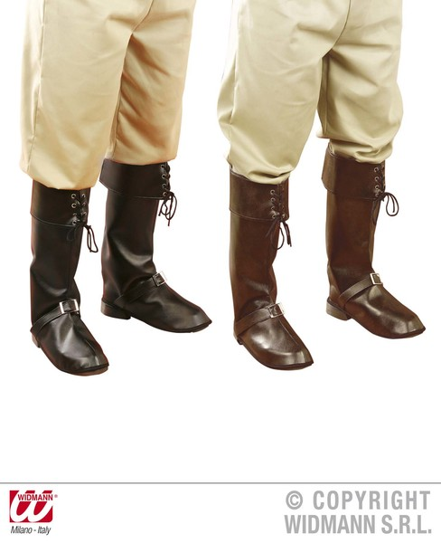 BOOT COVERS W/BUCKLE - black/brown
