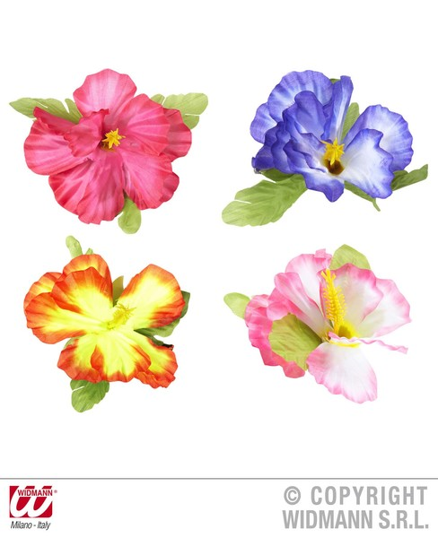 HIBISCUS FLOWER HAIR CLIP - 4 colours