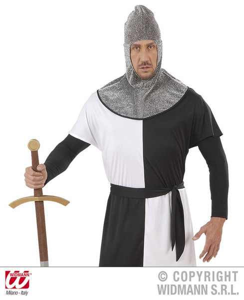 MEDIEVAL WARRIOR HOOD METALLIC - ADULT SIZE