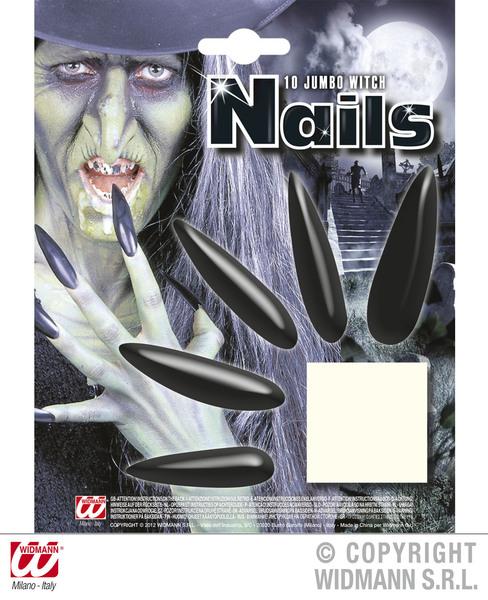 Jumbo Witch Nails Halloween Wicked Villian Cosmetics