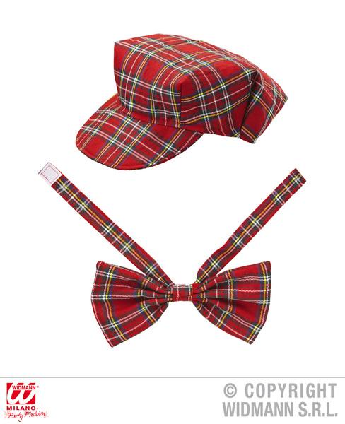 RED TARTAN HAT & BOW TIE