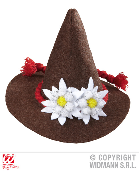 BAVARIAN MINI HAT - BROWN