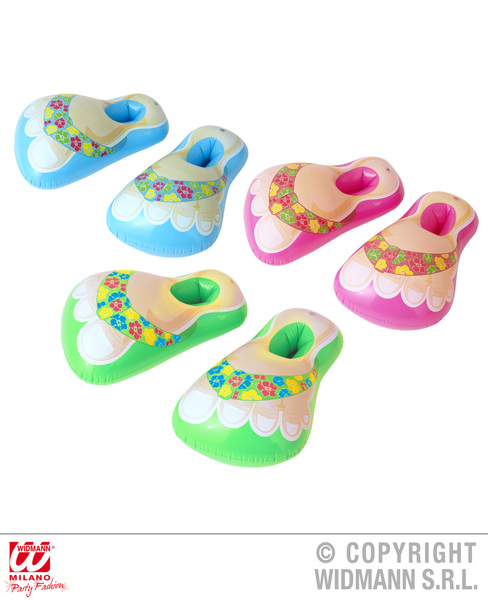 INFLATABLE HAWAII SANDALS 56cm - 3 colours