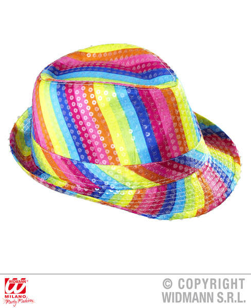 RAINBOW SEQUINNED FEDORA