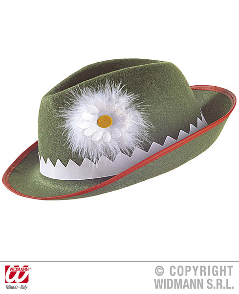 TYROLESE HAT GREEN WITH DAISY