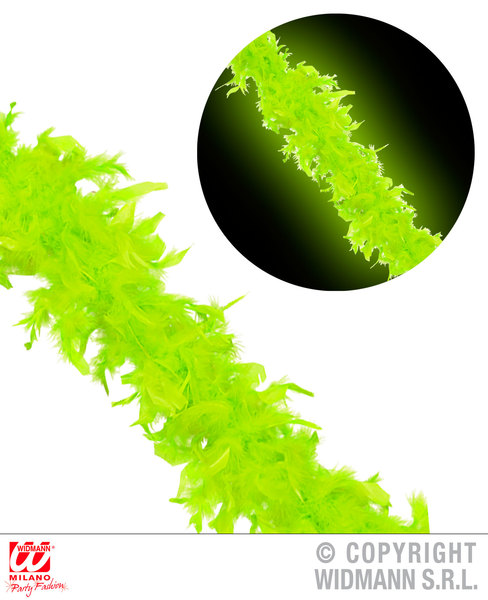 NEON FEATHER BOA 180cm - GREEN